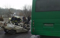 Страшное ДТП с маршруткой в Обухове (видео)