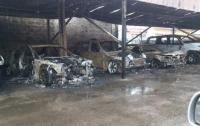 На охраняемой стоянке в Харькове произошло массовое сожжение авто