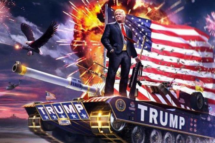 Трамп продемонстрировал  выдуманную сцену расстрела людей вмосковском аэропорту