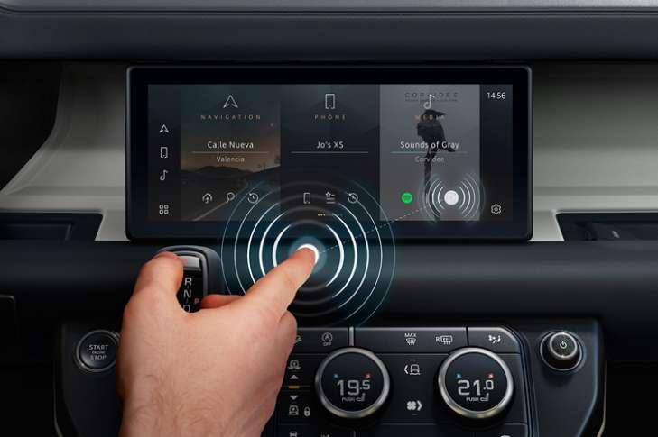 Jaguar Land Rover показал бесконтактный сенсорный дисплей