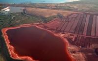 В Австралии появилось кровавое озеро (видео)