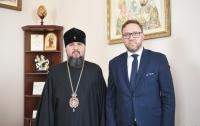 Епифаний поговорил с польским дипломатом о духовном