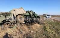 Военный грузовик попал в ДТП